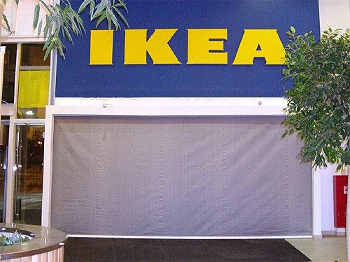 Противопожарные шторы, IKEA