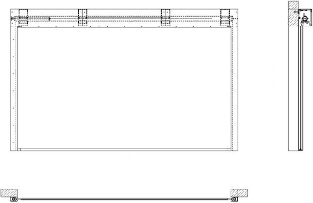 Конструкция Противопожарных штор при орошении FireTechnics EI 60/EI 120/EI 180