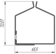 Отсекающая шина Premium Противопожарных штор при орошении FireTechnics EI 60/EI 120/EI 180