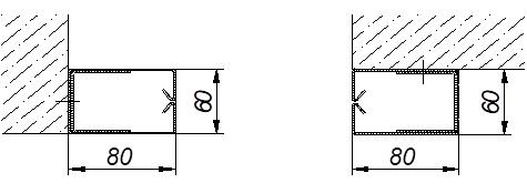 Варианты монтажа направляющих Standart Противопожарных штор при орошении FireTechnics EI 60/EI 120/EI 180