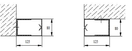 Варианты монтажа направляющих Premium Противопожарных штор при орошении FireTechnics EI 60/EI 120/EI 180