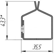Отсекающая шина Standart Противопожарных штор при орошении FireTechnics EI 60/EI 120/EI 180
