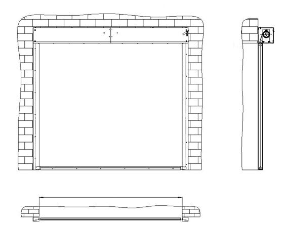 Противопожарная штора без орошения FireTechnics EI 60/EI 90/EI 120 габариты