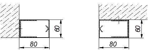 Варианты монтажа, размеры Противопожарных штор без орошения FireTechnics EI 60/EI 90/EI 120